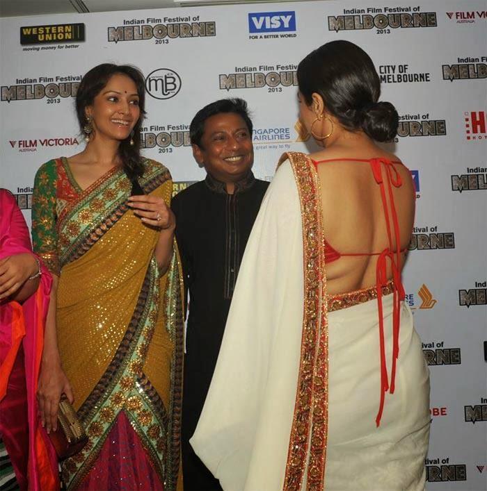 vidya balan backless saree wallpapers