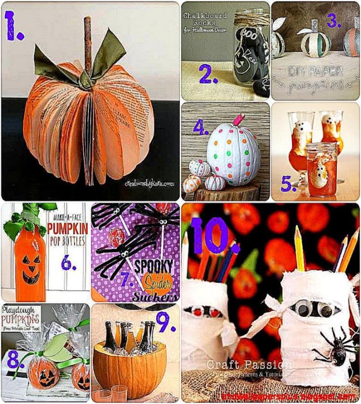 Ten Last Minute Halloween Crafts   DesignedByBH