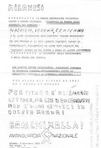 MILANO 6 DICEMBRE 1972 Avanguardia Nazionale sola contro la reazione marxista e borghese
