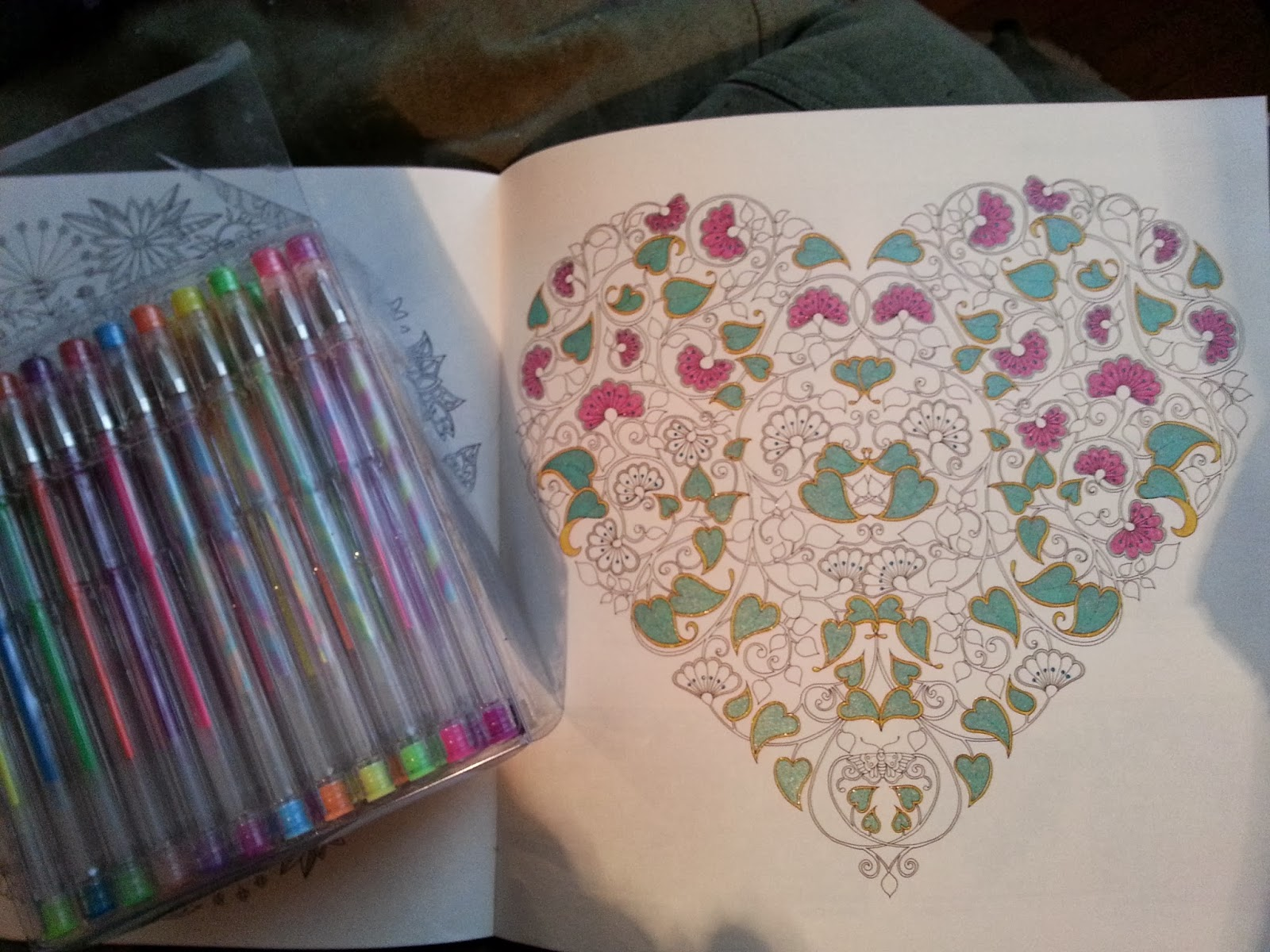 Coloring Book Secret Garden Gel Pens