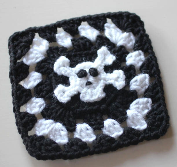 Crochet Patterns Skull : Pirate Granny Squares Crochet Patterns - Repeat Crafter Me