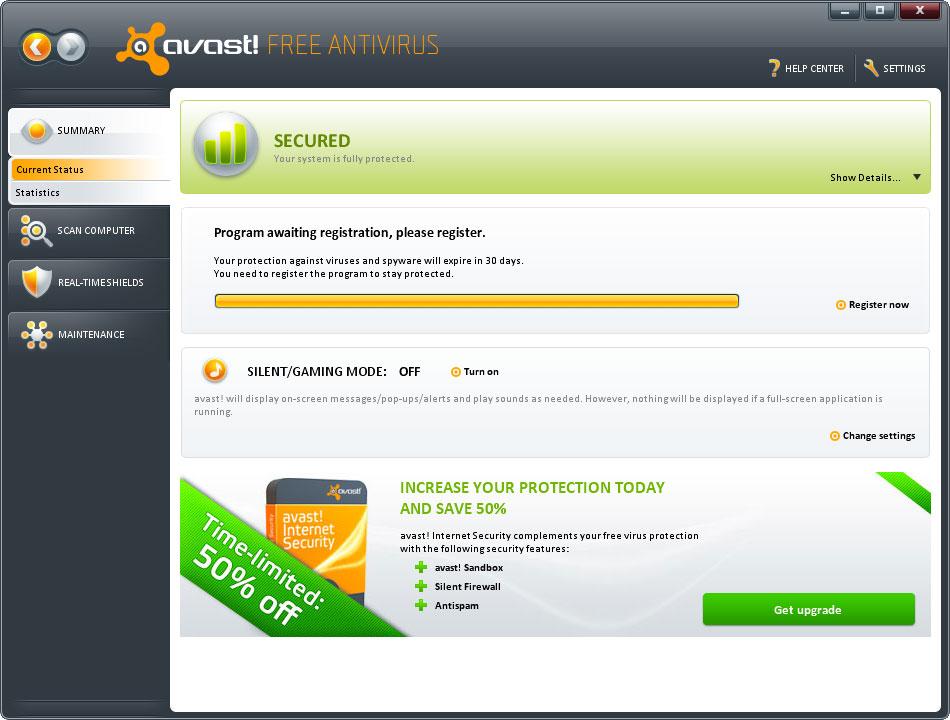 ������ Avast-6.0.1367 free antivirus ����