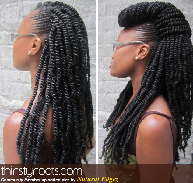 Crochet Braids Vs Kinky Twists : ... Length Hair By April 2014!!!: Kinky Twists vs Senegalese Twists