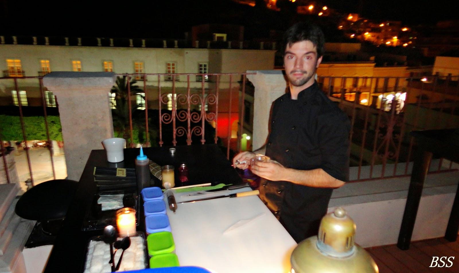 Baños Arabes Plaza Vieja Almeria:Álvaro García el encargado de cocina del nuevo restaurante Whatsabi