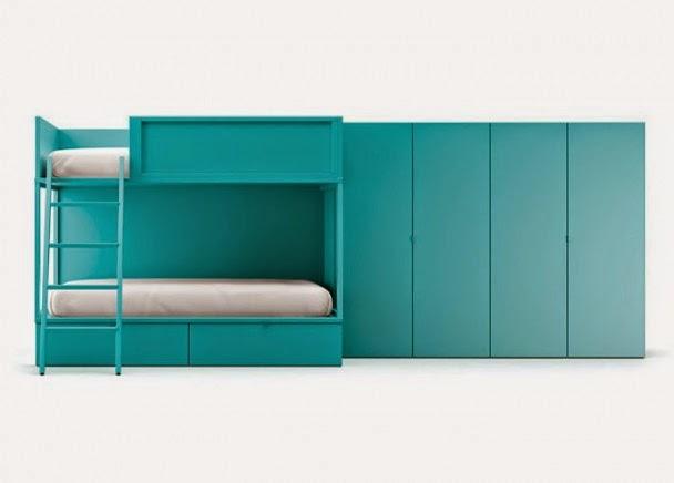 litera lagrama azul turquesa 2 camas