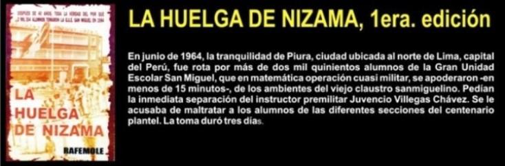 LA HUELGA DE NIZAMA, 1era. edición