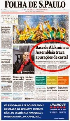 Alckmin fala grosso com trabalhador do metrô e fino com propineiros engravatados do trensalão.