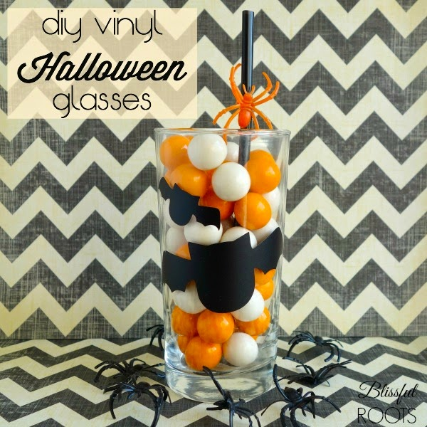 DIY Halloween Vinyl Glasses from Blissful Roots
