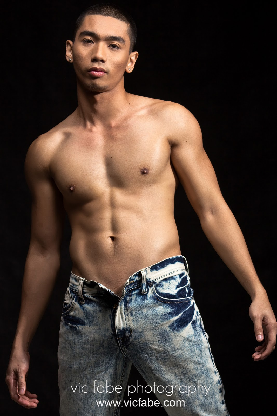 Asian underwear model bro