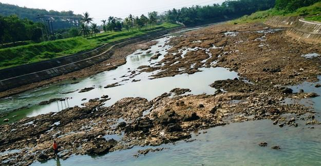 Permukaan Air Sungai Citanduy Kritis