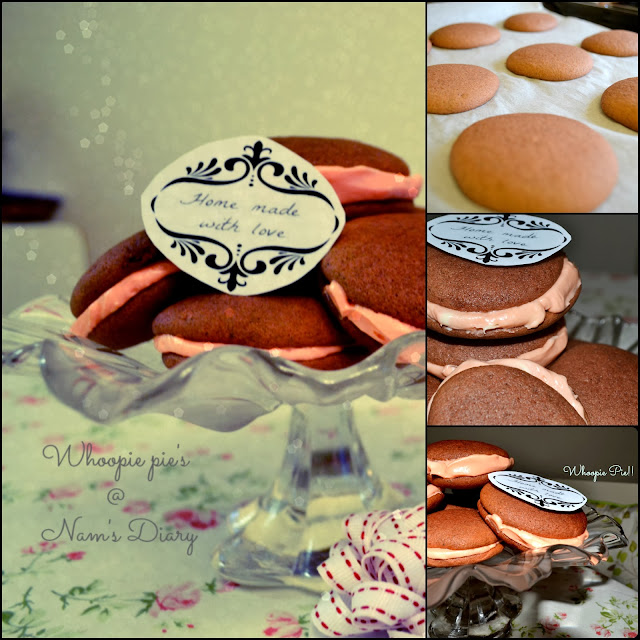 Whoopie Pie's - from oven to serving plate- collage