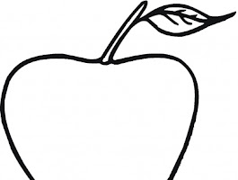 Apple Fruit Coloring Pages