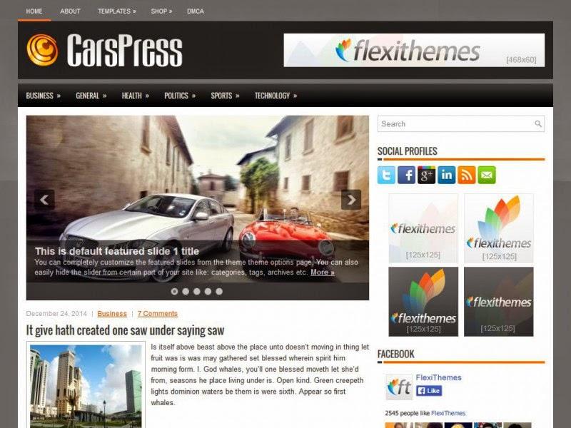 CarsPress - Free Wordpress Theme