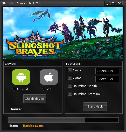 Slingshot Braves - Hack Tool[no survey] main screen