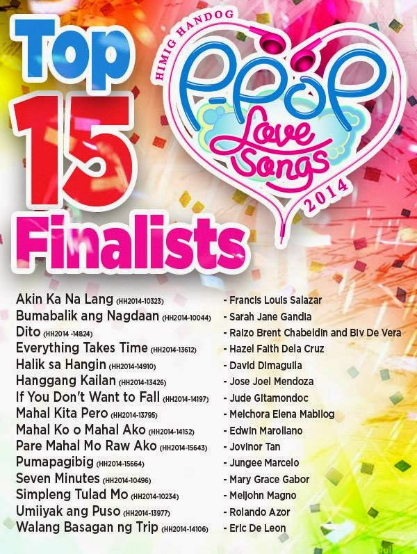 Himig Handog P-Pop Love Songs 2014 Top 15