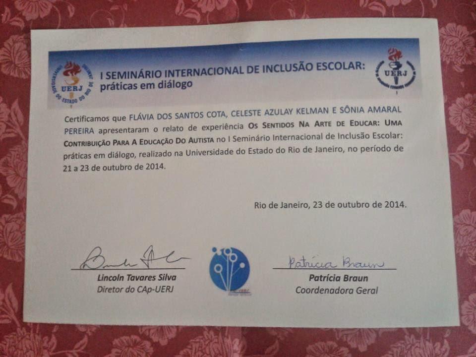 1º SEMINÁRIO INTERNACIONAL DE EDUCAÇÃO INCLUSIVA - UERJ