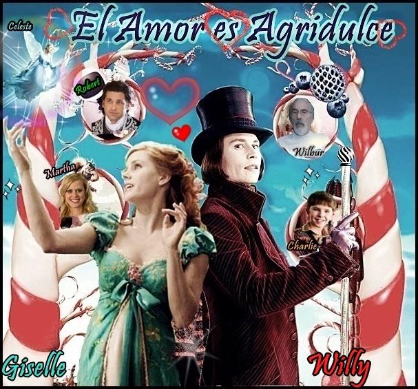 La historia de amor,del Chocolatero Willy wonka y la Princesa Giselle
