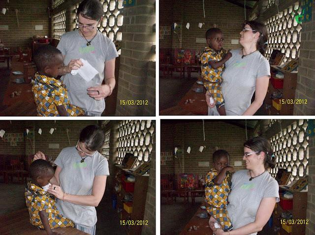 I bambini togolesi a scuola nella missione