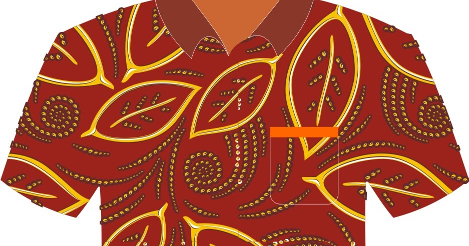 Contoh Baju Batik Vector | Free DOWNLOAD vector