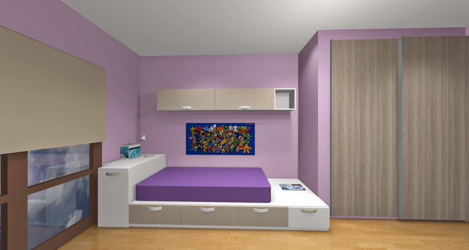 Dormitorio con tatami - Colores dormitorio juvenil ...