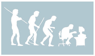 Devolution from hunter to Facebook addict