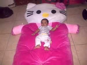 foto kasur anak berkarakter hello kitty