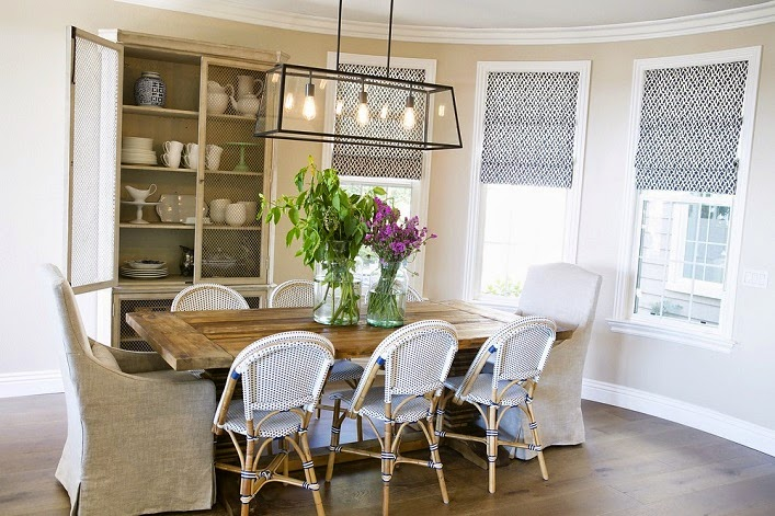 Mix and chic cool design firm alert studio mcgee for Casual dining room lighting ideas