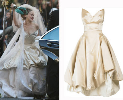 Carrie Bradshaw Vivienne West Wood Wedding Dresses Gallery | Behind ...