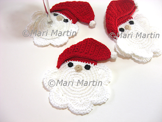 Crochet Coasters Santa Claus