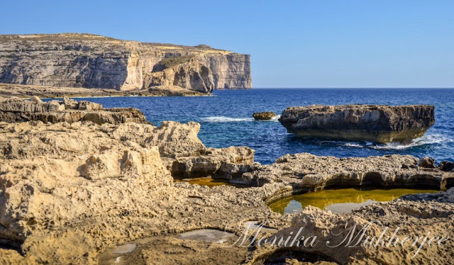 Azure Window Dwejra Gozo Malta by Monika Mukherjee