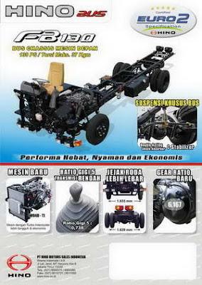 Spesifikasi dan Harga Chasis HINO FB 130