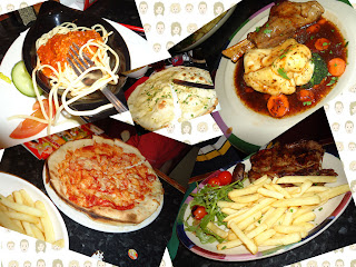 Selection of Frankie and Benny's Dishes