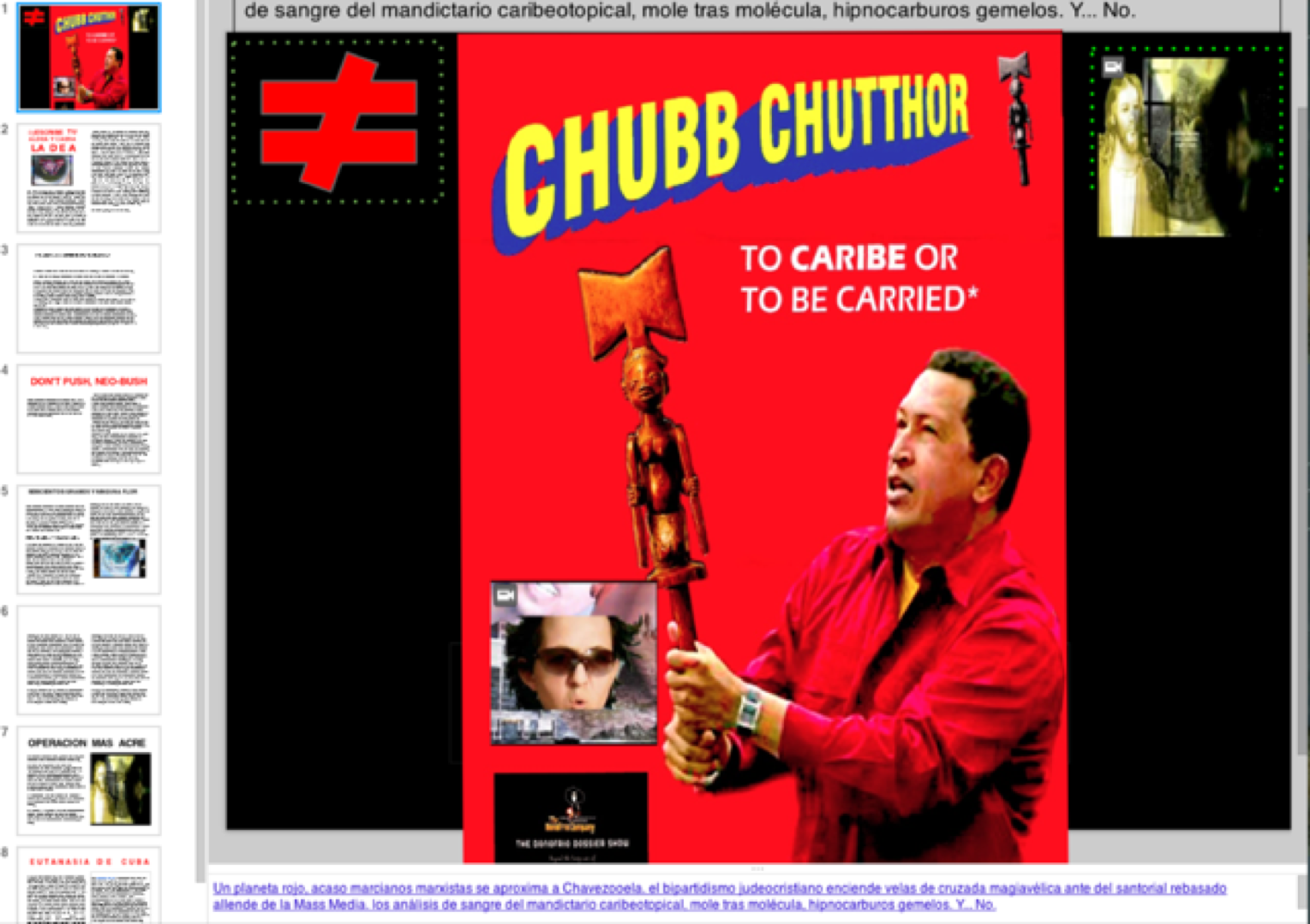CHUBB CHUTTHOR - TO CARIBE OR TO BE CARRIED