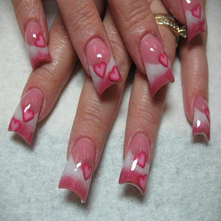 valentine's day nails tutorial
