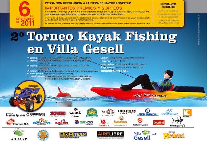 Tiempo de pescar 2 torneo de kayak fishing en villa gesell for Temperatura actual en villa gesell