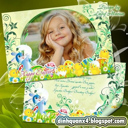 Greeting set – card and photoframe – Happy Easter - 5