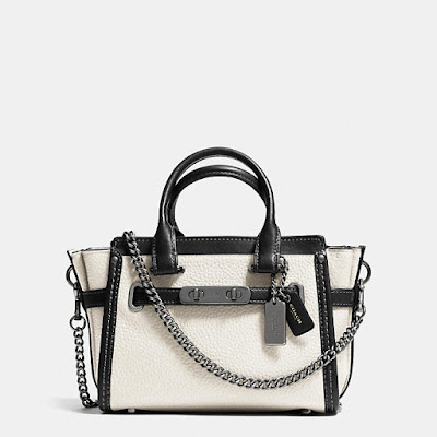 Coach Swagger Bag in White Leather