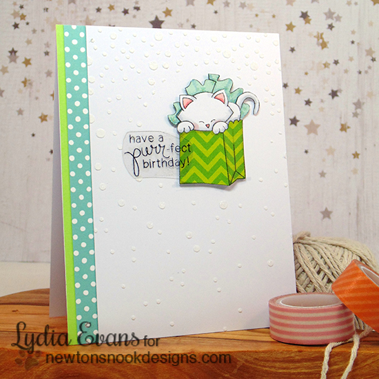 Cupcake Inspirations Challenge - Color Challenge |  Birthday Card by Lydia Evans | Stamps by Newton's Nook Designs