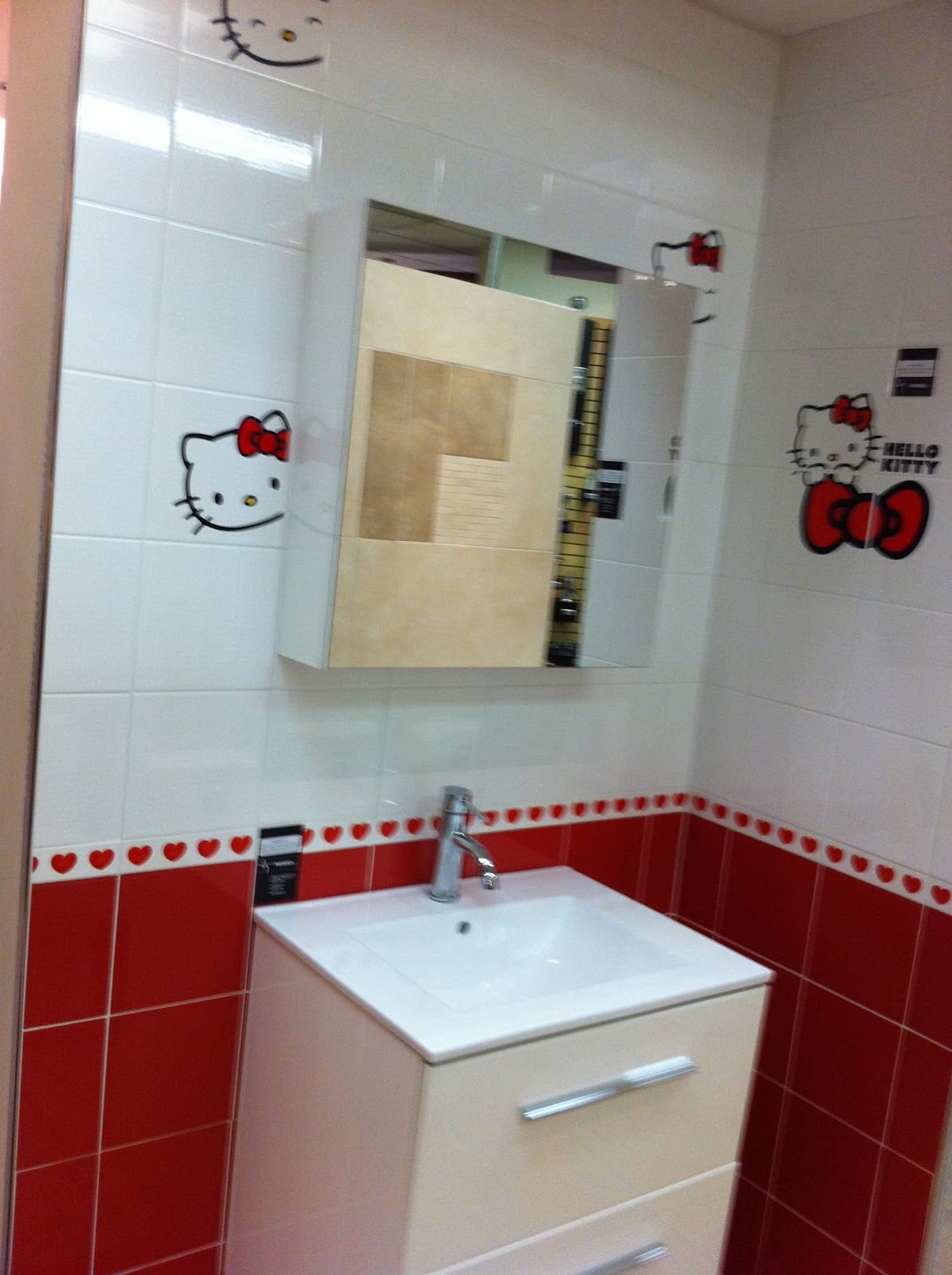 to da loos hello kitty bathroom tiles. Black Bedroom Furniture Sets. Home Design Ideas