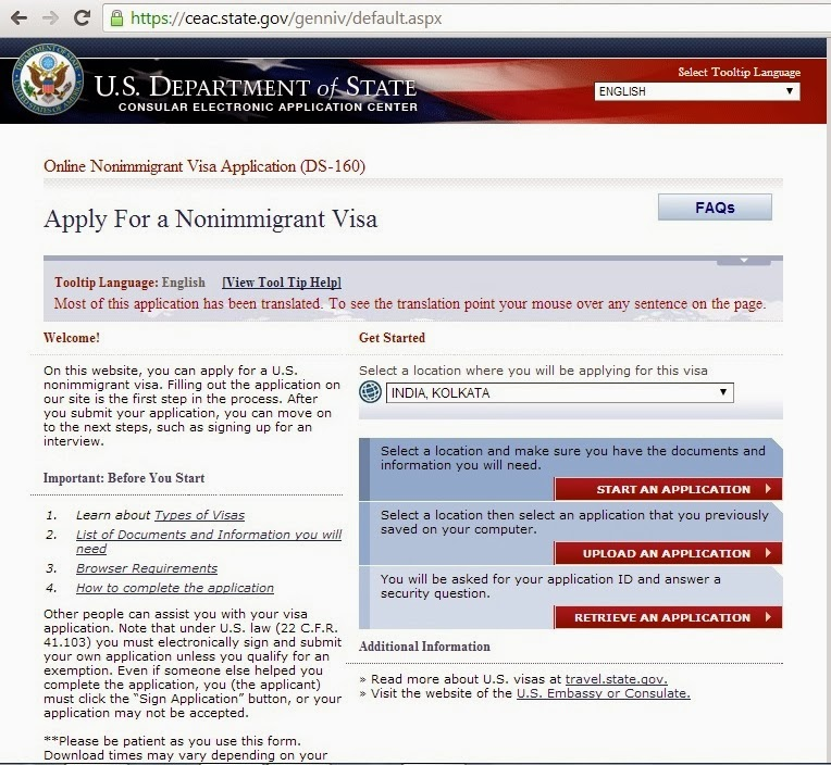 STUDY IN USA: HOW TO FILL THE DS-160 FORM