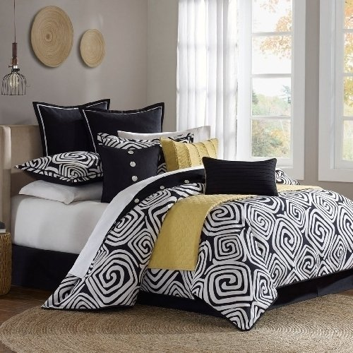 Total Fab Modern Black And White Geometric Themed Bedding
