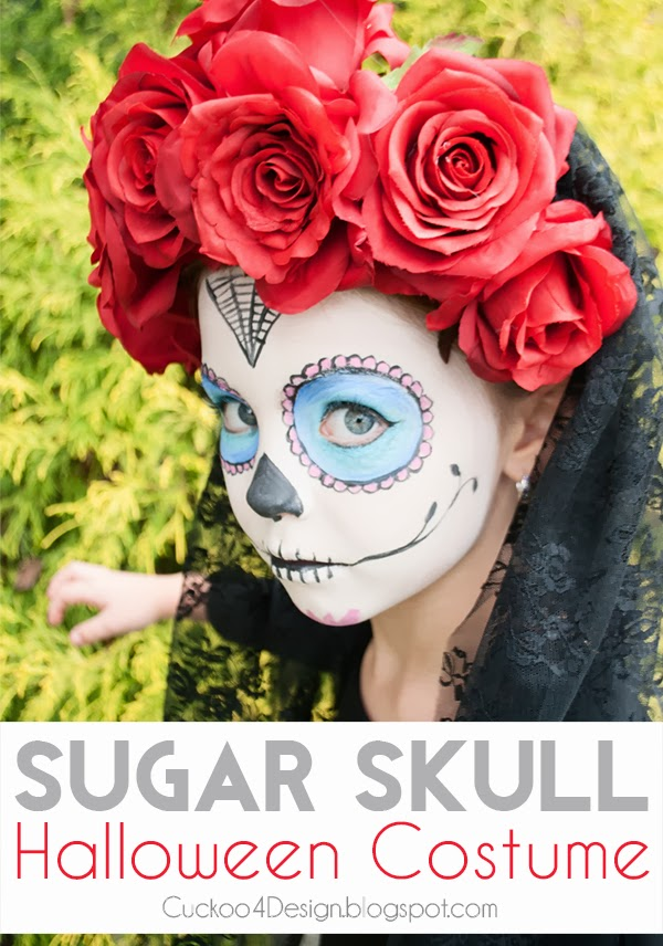 Halloween sugar skull costume for little girl by Cuckoo4Design