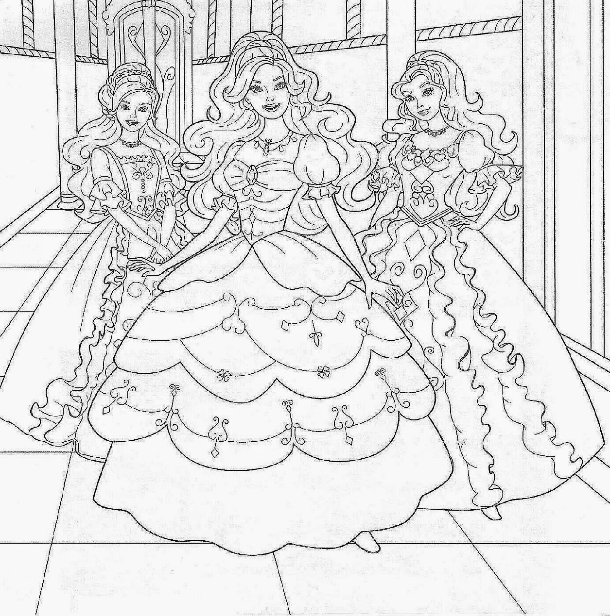 Free barbie coloring pages for Coloring pages games