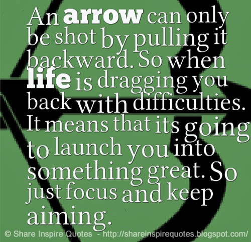 Arrow Quotes Life Brilliant An Arrow Can Only Be Shotpulling It Backwardso When Life Is