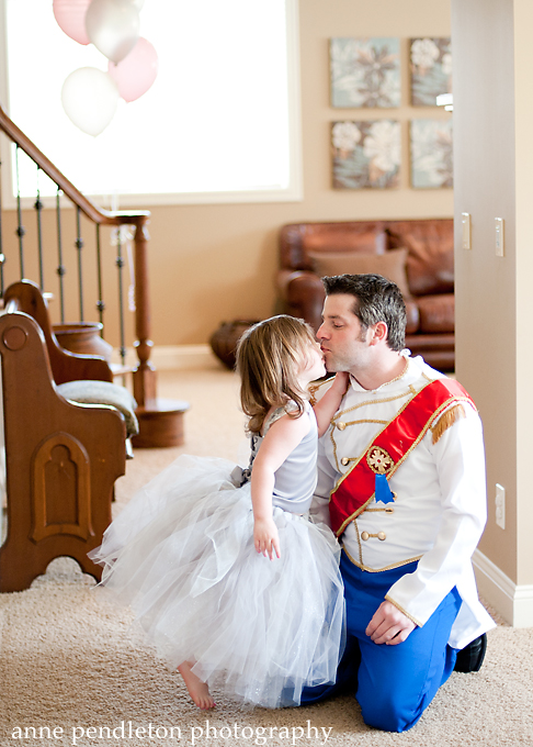 Dad dressed as Prince Charming