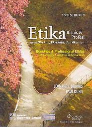 toko buku rahma: buku etika bisnis, pengarang leonard j. brooks, penerbit salemba empat