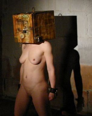 box Bdsm tied head
