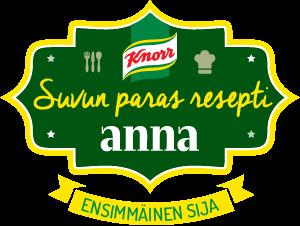 Voitto tuli Knorr:n Suvun paras resepti-kisassa!