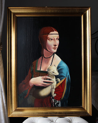 Lady with an ermin (Leonardo) - oil painting reproduction by Marcello Barenghi