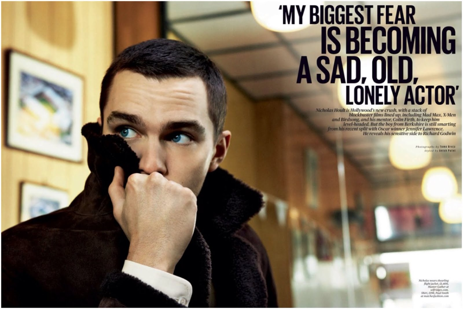 00O00 Menswear Blog Nicholas Hoult in Burberry Prorsum - ES Magazine 8th March 2013